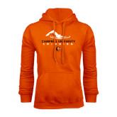 Orange Fleece Hoodie-Swimming Design