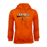 Orange Fleece Hoodie-Lacrosse Stick Design