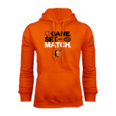 Orange Fleece Hoodie-Game Set Match Tennis Design