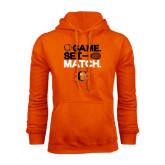 Orange Fleece Hoodie-Game Set Match Tennis Design