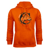Orange Fleece Hoodie-C w/ Frankenstein Camel Head Halloween