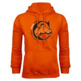 Orange Fleece Hoodie-C w/ Frankenstein Camel Head Halloween