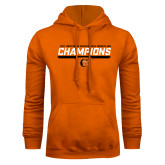 Orange Fleece Hoodie-2017 Southern Conference Wrestling