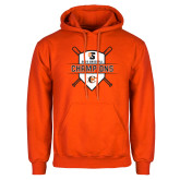 Orange Fleece Hoodie-2018 Baseball Champions