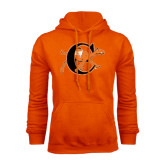 Orange Fleece Hoodie-Campbell Official Logo