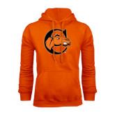Orange Fleece Hoodie-C w/ Camel Head