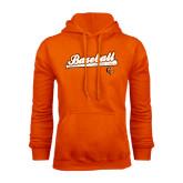 Orange Fleece Hoodie-Baseball Bat Design
