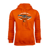 Orange Fleece Hoodie-Inside Football Ball Design