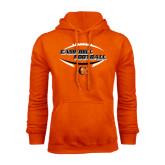Orange Fleece Hoodie-Inside Football Ball Design