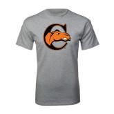 Grey T Shirt-C w/ Camel Head