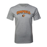Grey T Shirt-Arched Campbell University