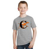 Youth Grey T-Shirt-Campbell Official Logo