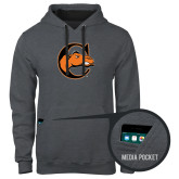 Contemporary Sofspun Charcoal Heather Hoodie-C w/ Camel Head