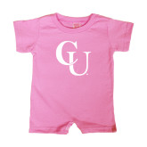 Bubble Gum Pink Infant Romper-CU