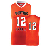 Replica Orange Adult Basketball Jersey-#12