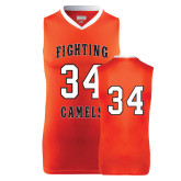Replica Orange Adult Basketball Jersey-#34