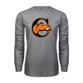 Grey Long Sleeve T Shirt-C w/ Camel Head