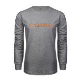 Grey Long Sleeve T Shirt-Campbell Flat