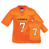 Youth Replica Orange Football Jersey-#7