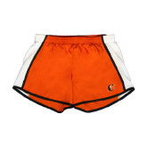 Ladies Orange/White Team Short-Campbell Official Logo