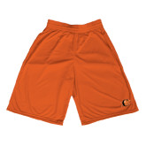 Midcourt Performance Orange 11 Inch Game Short-Campbell Official Logo