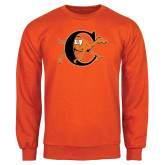 Orange Fleece Crew-Campbell Official Logo