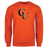 Orange Fleece Crew-CU