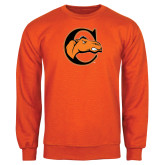 Orange Fleece Crew-C w/ Camel Head