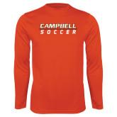 Syntrel Performance Orange Longsleeve Shirt-Soccer Design