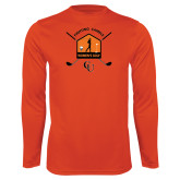 Performance Orange Longsleeve Shirt-Golf Crossed Sticks Designs
