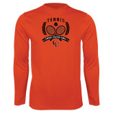 Performance Orange Longsleeve Shirt-Crossed Tennis Design