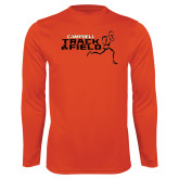 Performance Orange Longsleeve Shirt-Track and Field Runner Design