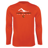 Performance Orange Longsleeve Shirt-Swimming Design