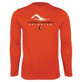 Syntrel Performance Orange Longsleeve Shirt-Swimming Design