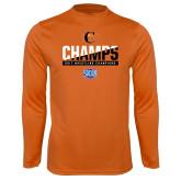 Syntrel Performance Orange Longsleeve Shirt-2017 Southern Conference Wrestling