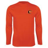 Syntrel Performance Orange Longsleeve Shirt-Campbell Official Logo