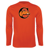 Performance Orange Longsleeve Shirt-C w/ Camel Head