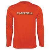 Syntrel Performance Orange Longsleeve Shirt-Campbell Flat