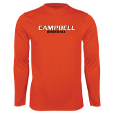 Performance Orange Longsleeve Shirt-Baseball
