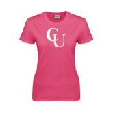 Ladies Fuchsia T Shirt-CU