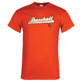 Orange T Shirt-Baseball Bat Design