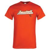 Orange T Shirt-Baseball Bat Design