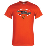Orange T Shirt-Inside Football Ball Design