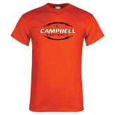 Orange T Shirt-Lighting Football Ball Design