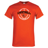 Orange T Shirt-Basketball Ball Design