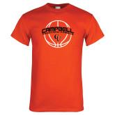 Orange T Shirt-Basketball Ball Design