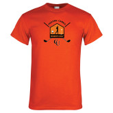 Orange T Shirt-Golf Crossed Sticks Designs
