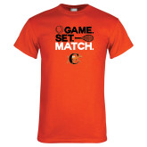 Orange T Shirt-Game Set Match Tennis Design