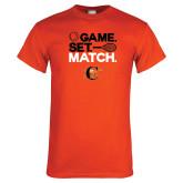 Orange T Shirt-Game Set Match Tennis Design