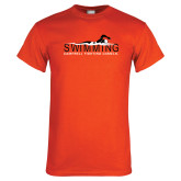 Orange T Shirt-Swimming w/ Swimmer Design